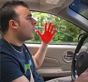 red hand road rage