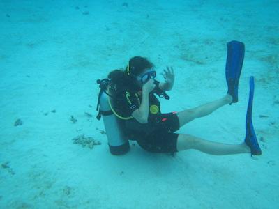 diver on bottom