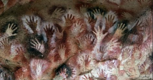 hand prints in ancient cave