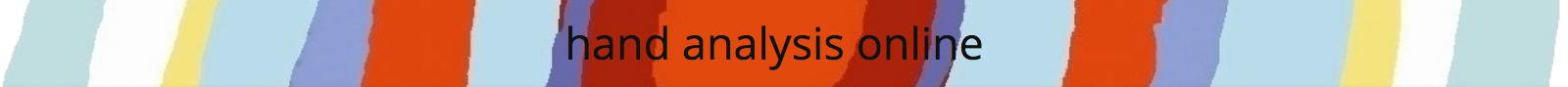 Hand Analysis Online